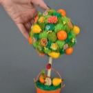 Топиарий из фруктов и овощей своими руками: пошаговые мастер-классы с фото и видео