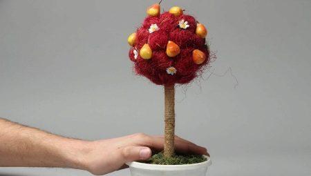 Делаем топиарий из фруктов