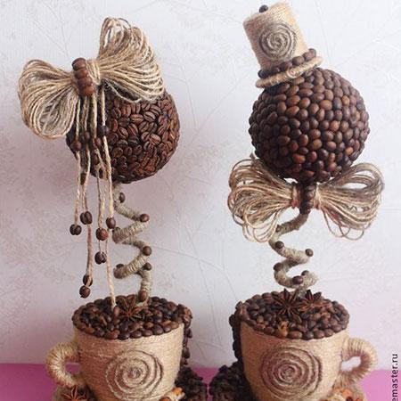 Изделия на ножке-подставке из кофе