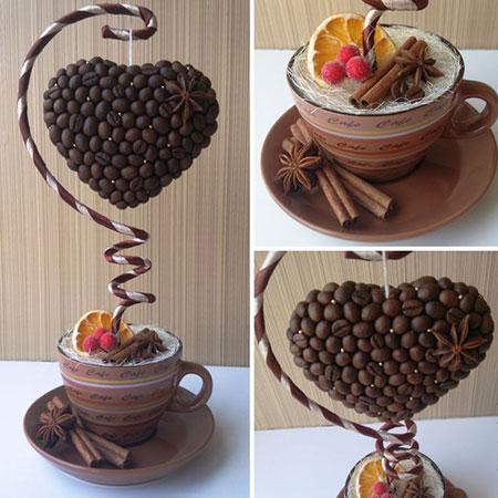 Подвесные изделия из кофе