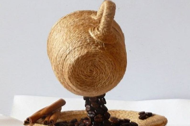 Идеи для топиария из кофе - «Летящая» чашка