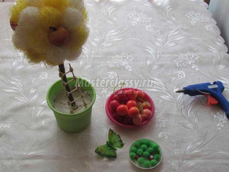 топиарий из сизаля и фруктов своими руками