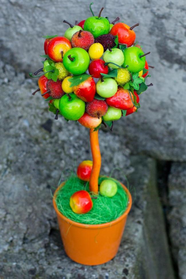 Декор своими руками из фальш фруктов