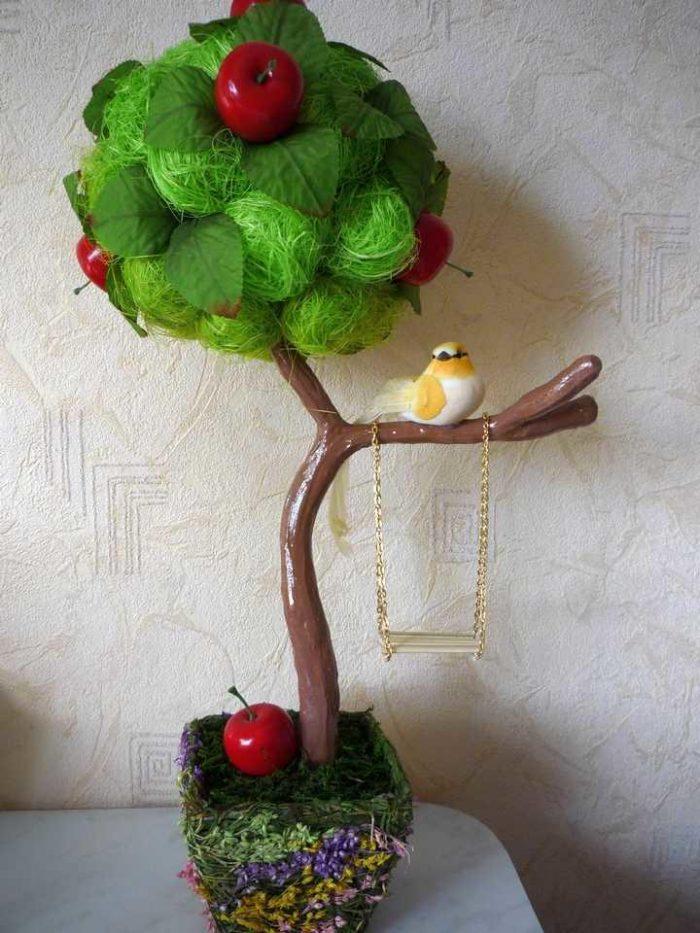 Дерево счастья из сизаля