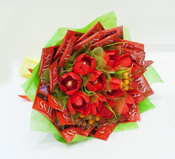 Топиарий из конфет своими руками:пошаговые мастер-классы с фото, видео, из чупа чупсов, рафаэлло, леденцов