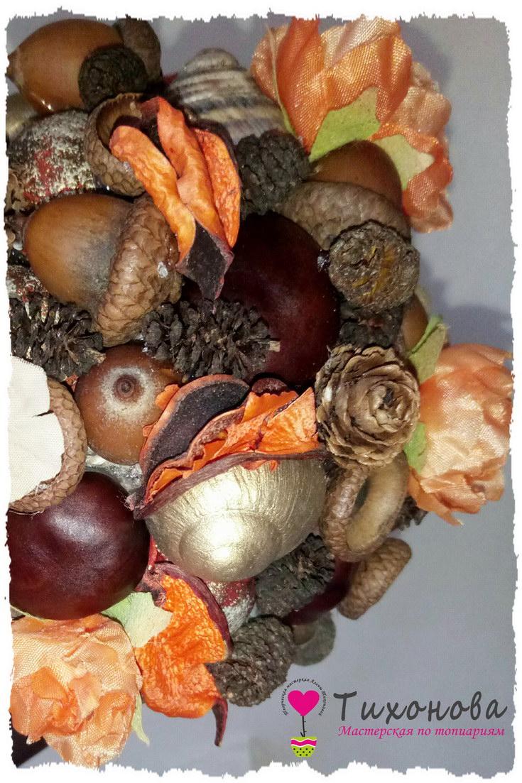 Осенний топиарий для детского сада своими руками - крона из природных материалов