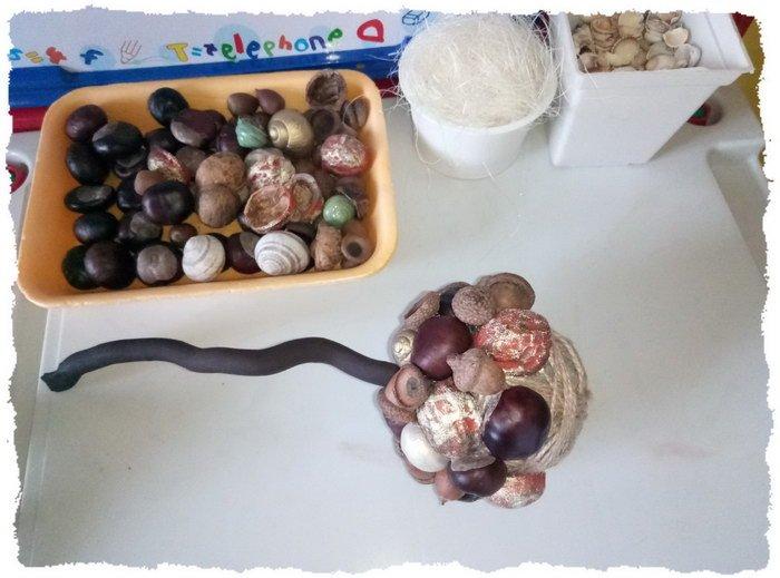 Осенний топиарий своими руками для детского сада - пошаговое фото 2