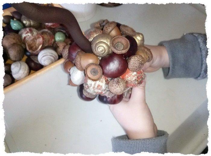 Осенний топиарий своими руками для детского сада - пошаговое фото 3