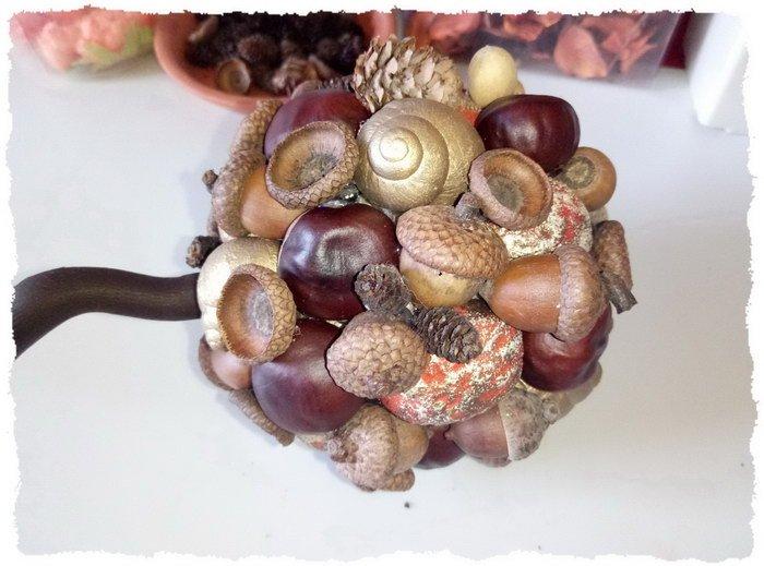 Осенний топиарий своими руками для детского сада - пошаговое фото 4