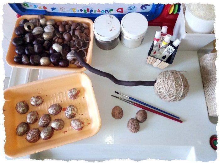 Осенний топиарий для детского сада - фото материалов