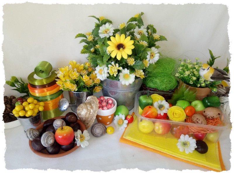 Топиарий из фруктов Прогулка в саду - материалы