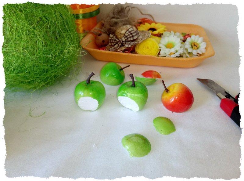Топиарий из фруктов и овощей - пошаговый мастер-класс фото 8