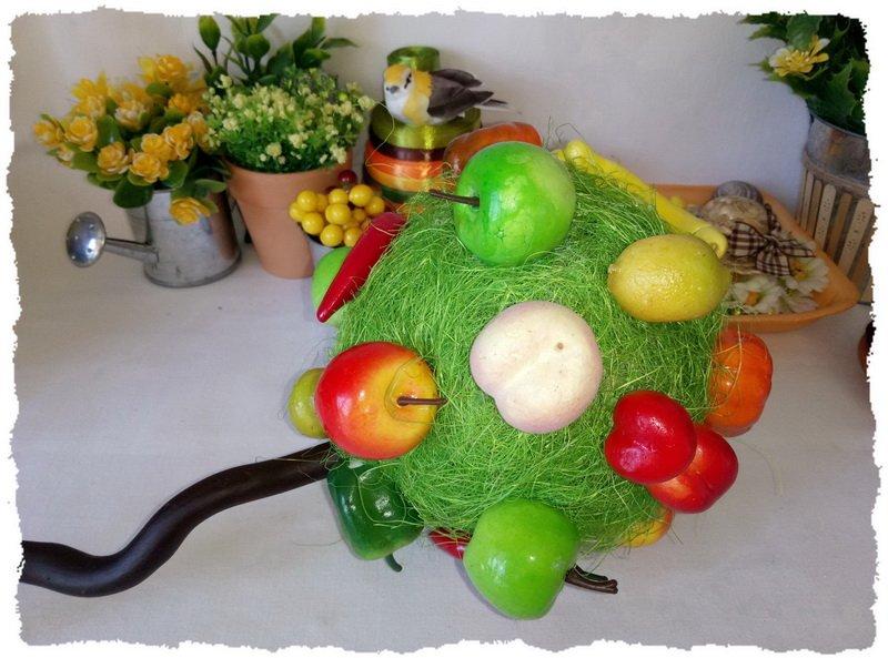 Топиарий из фруктов и овощей - пошаговый мастер-класс фото 9