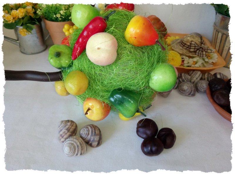Топиарий из фруктов и овощей - пошаговый мастер-класс фото 10