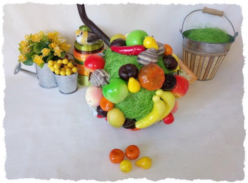 Топиарий из фруктов и овощей - пошаговый мастер-класс фото 11