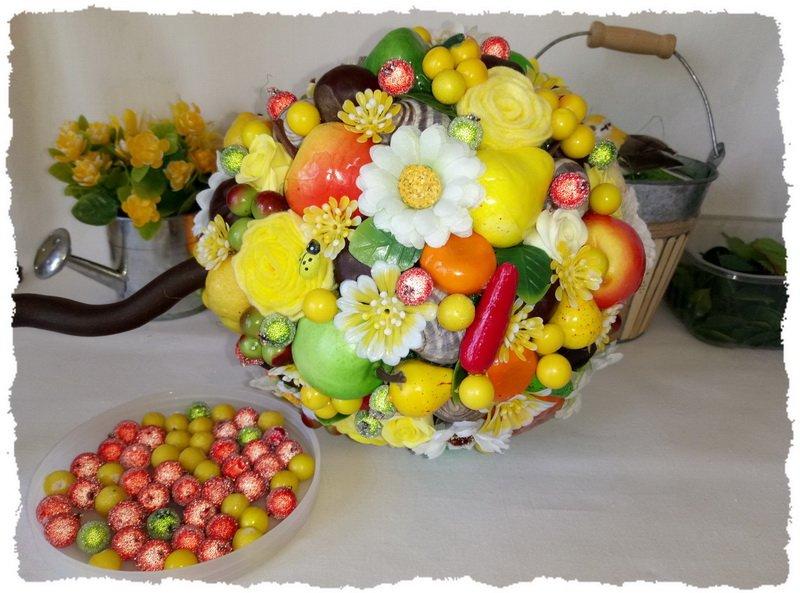 Топиарий из фруктов и овощей - пошаговый мастер-класс фото 13