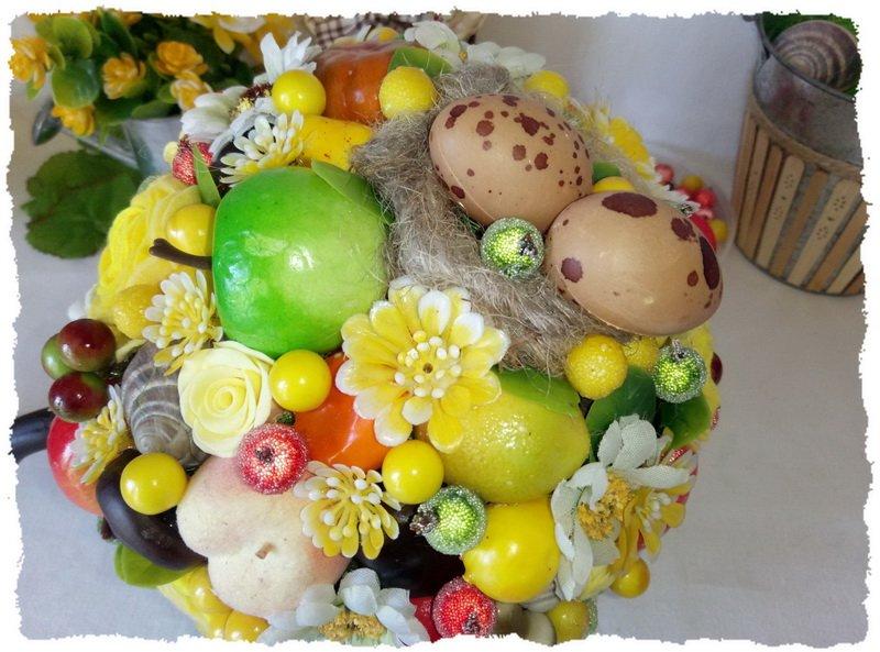 Топиарий из фруктов и овощей - пошаговый мастер-класс фото 16