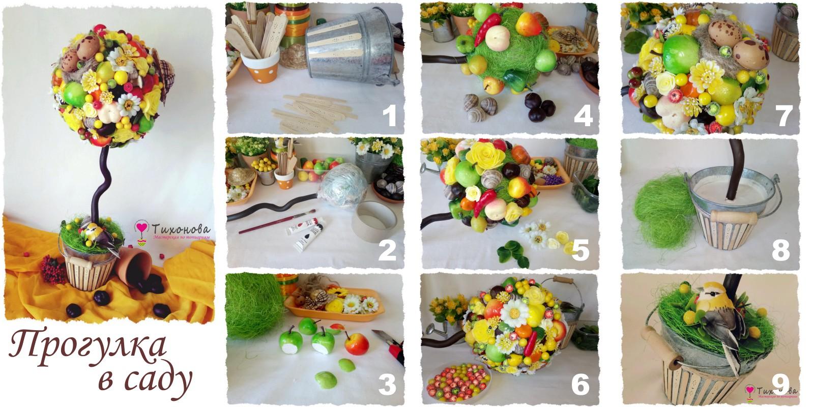 Как сделать топиарий из фруктов своими руками мастер-класс в фото