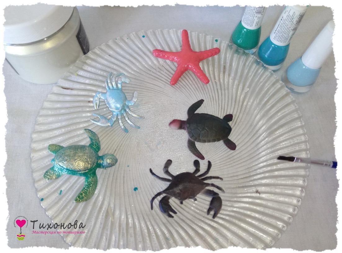 Топиарий из ракушек пошаговый фото мастер-класс — выкраски 3