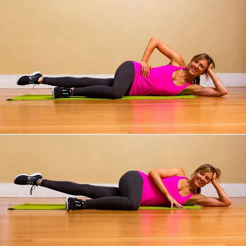 Идеальные бедра: вечернее упражнение для стройных ног