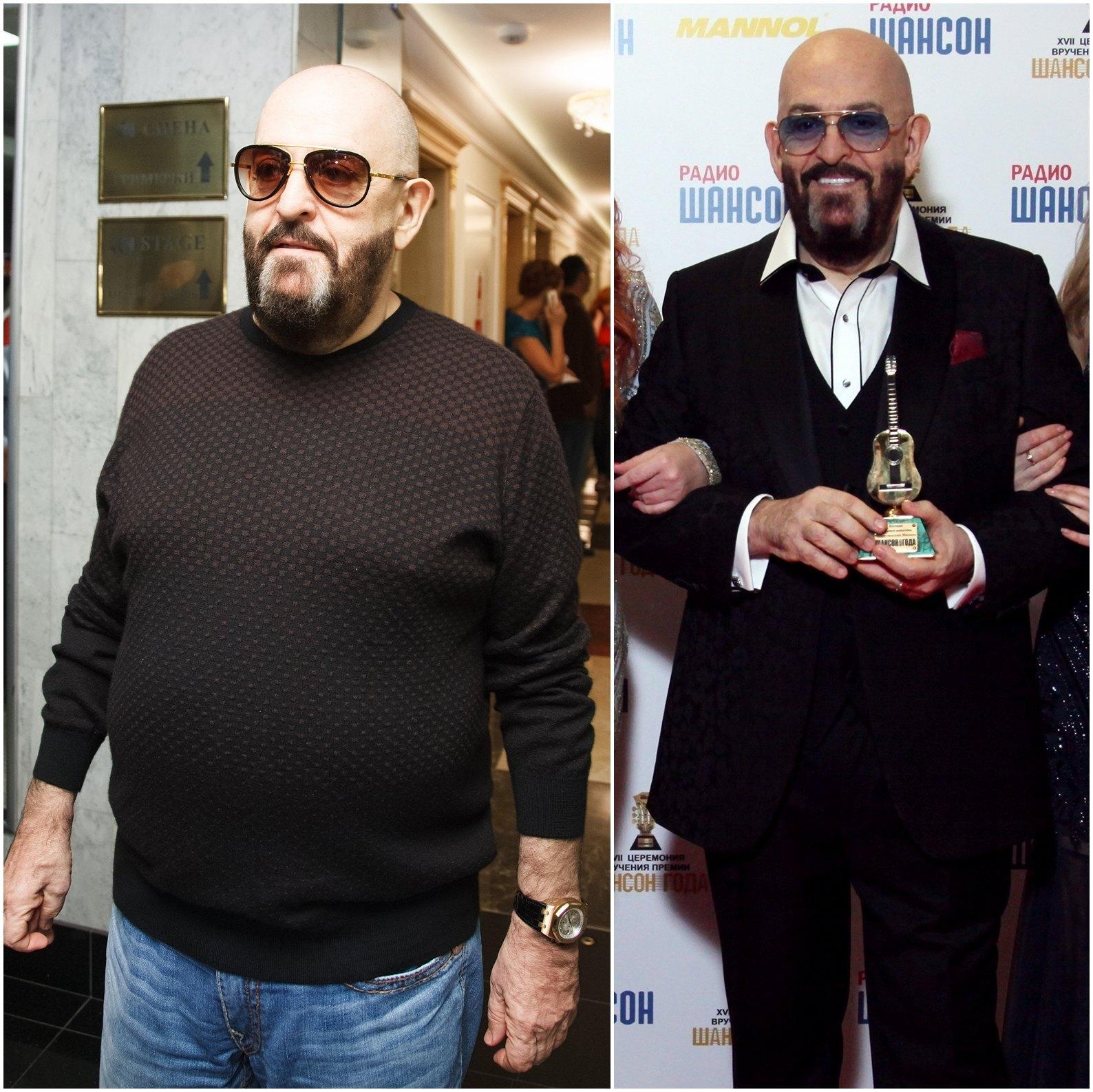 Как похудел Михаил Шуфутинский: фото до и после